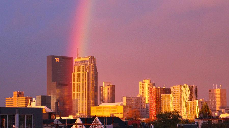 Rotterdam regenboog