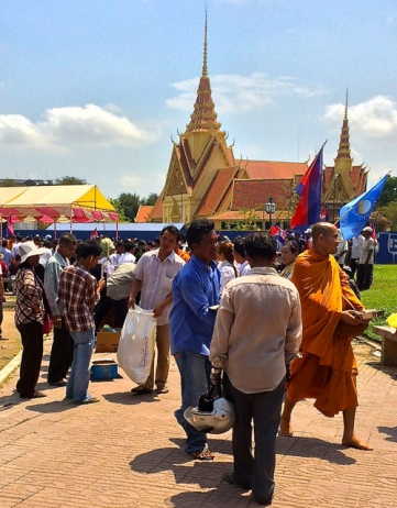 Verkiezingen Cambodja: heet protest