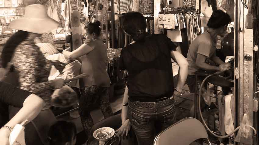 Phnom Penh Cambodja markt