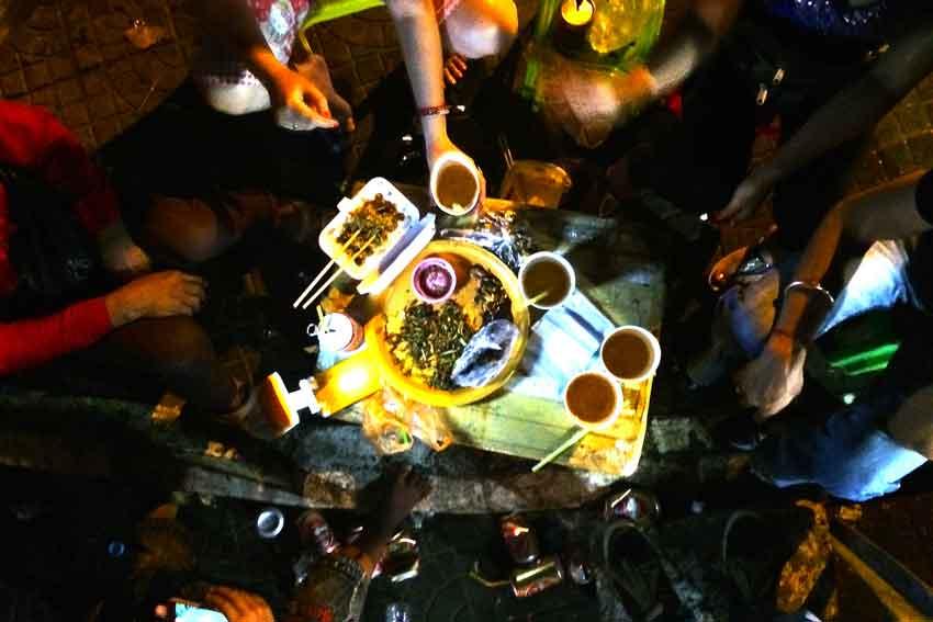 Phnom Penh Cambodja straatfeestje