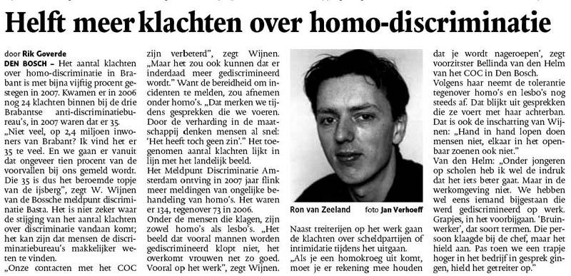 LHBT - discriminatie - Ron van Zeeland