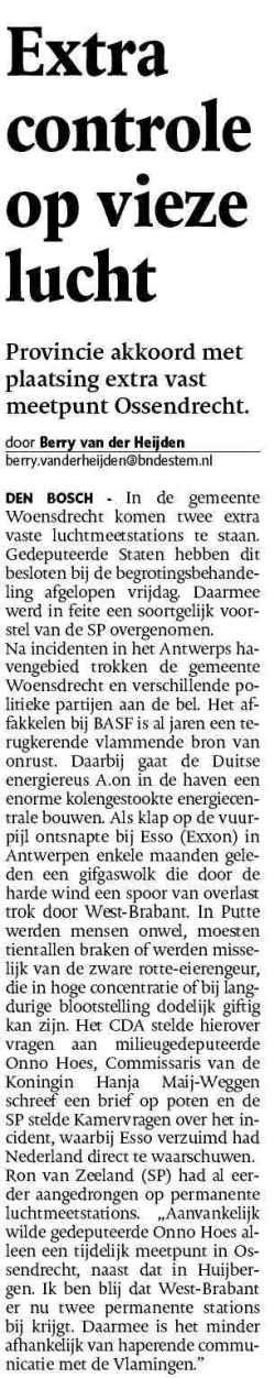 luchtvervuiling - Brabant - West-Brabant - Ron van Zeeland