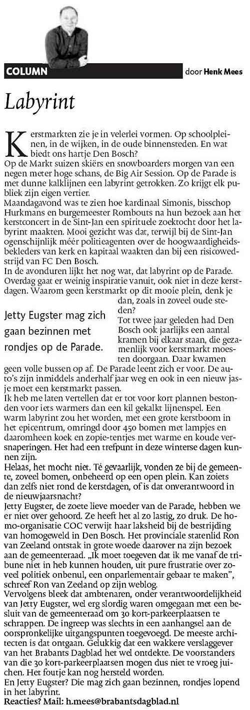 Jetty Eugster - Ron van Zeeland - COC - discriminatie - COC