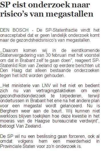 Ron van Zeeland - megastallen - Brabant