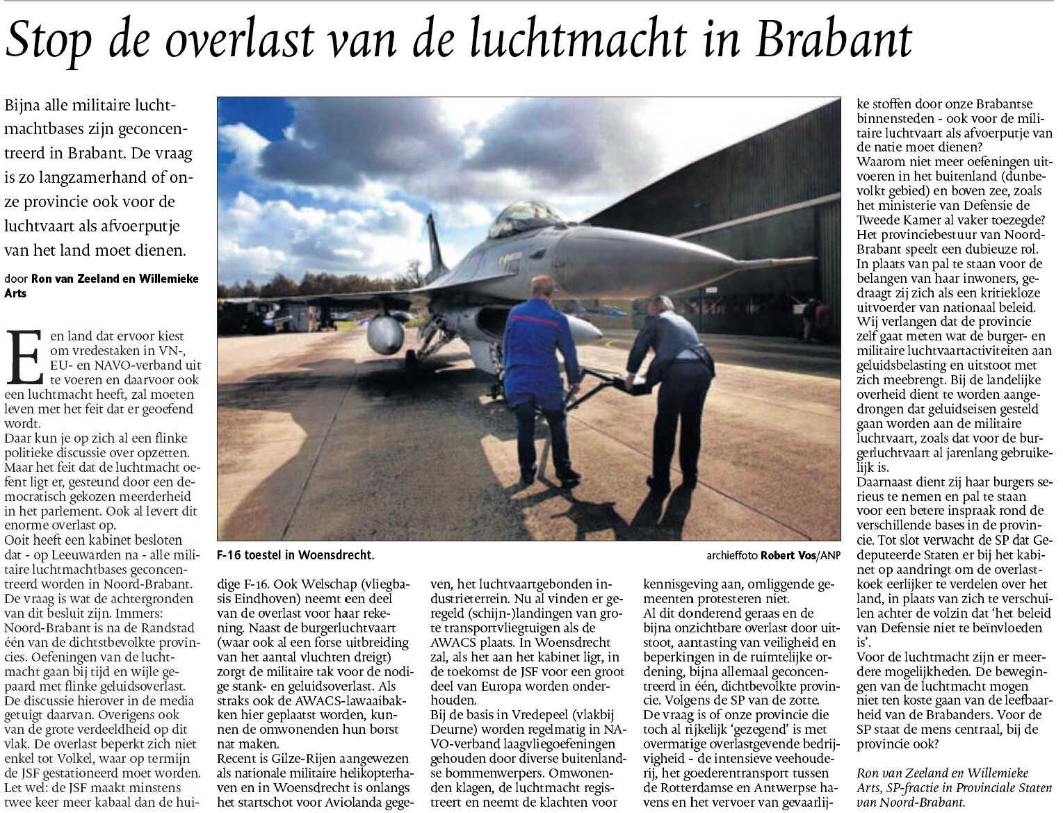 luchtmacht - vlieglawaai - Willemieke Arts - Ron van Zeeland
