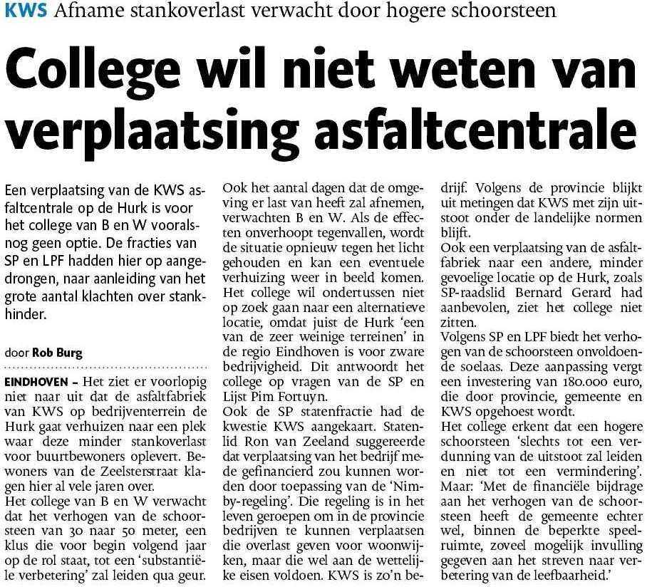 asfalt - Brabant - KWS