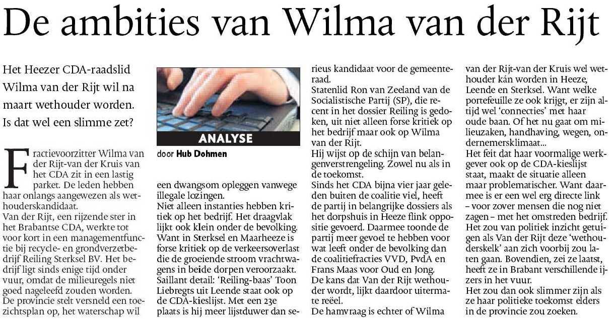 Wilma van der Rijt - Reiling Sterksel -