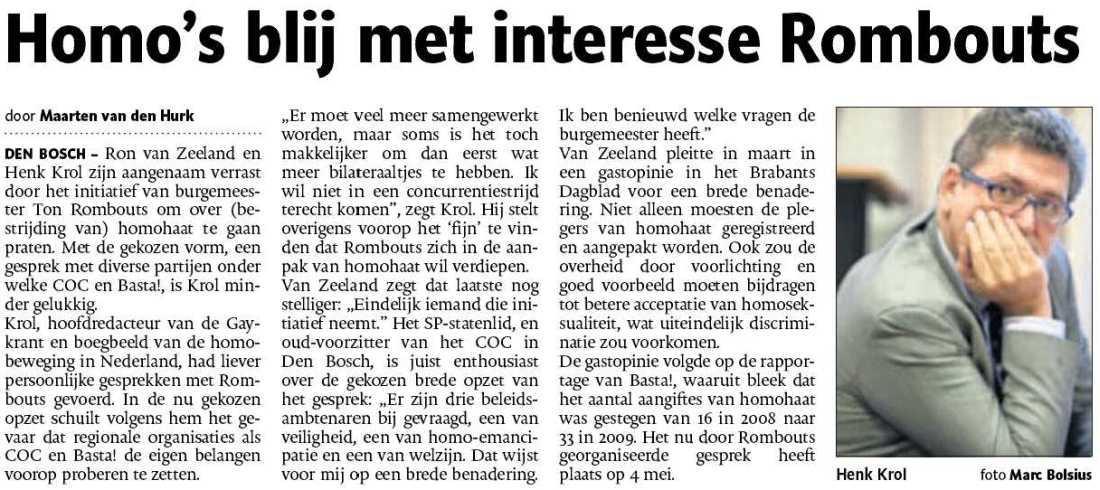 Ton Rombouts - LHBT - Den Bosch - Henk Krol - Ron van Zeeland