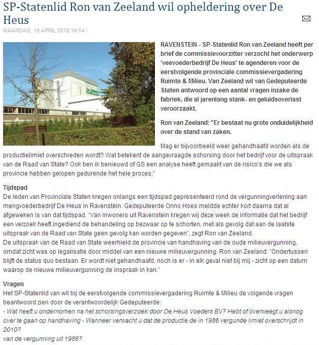 De Heus - Ravenstein - milieu