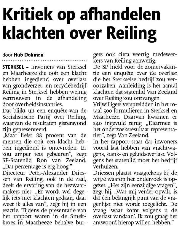 Reiling Sterksel BV