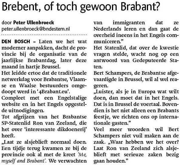 engels - verengelsing - taal - Brabant