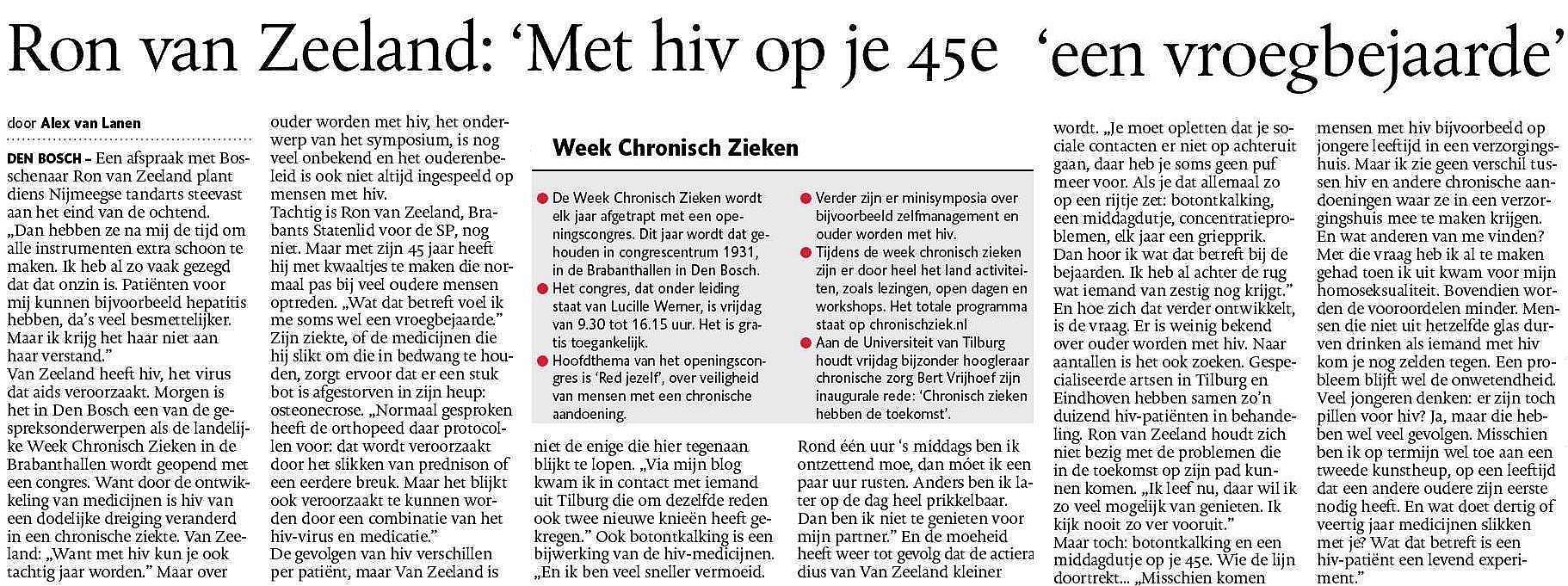 Ron van Zeeland - hiv - aids