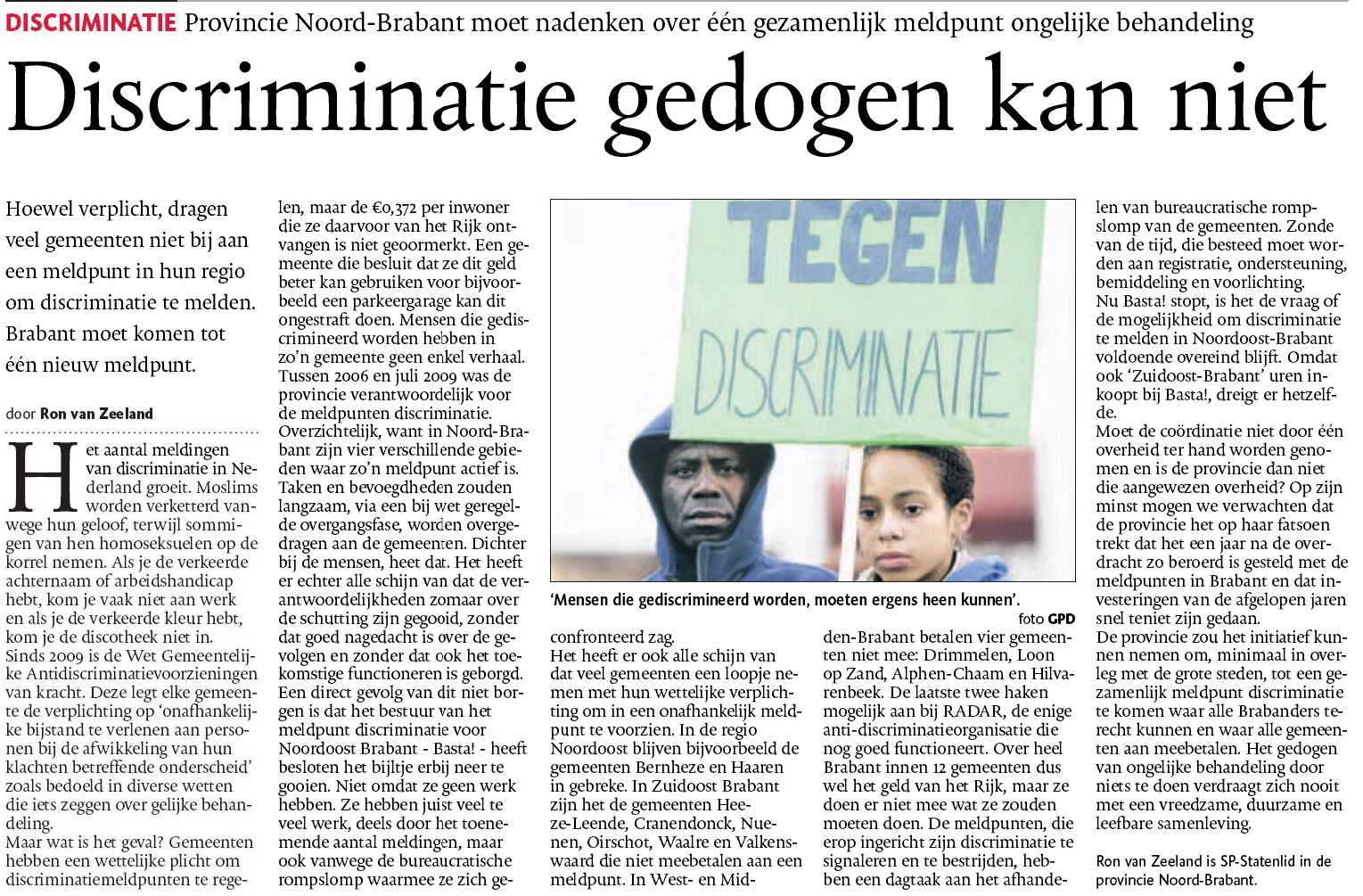 RADAR - discriminatie - LHBT