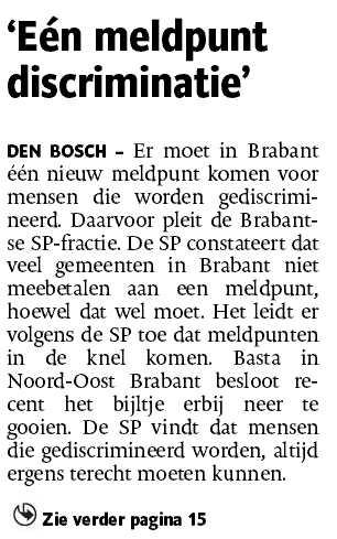 RADAR - discriminatie - Brabant - LHBT