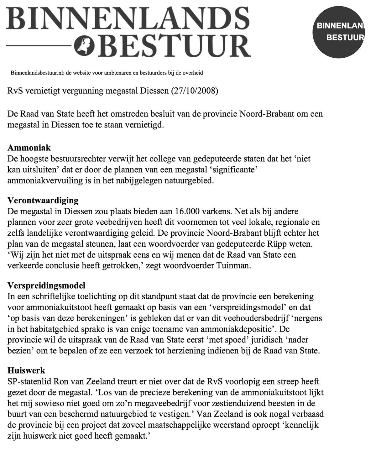 megastallen - Diessen - intensieve veehouderij - Ron van Zeeland