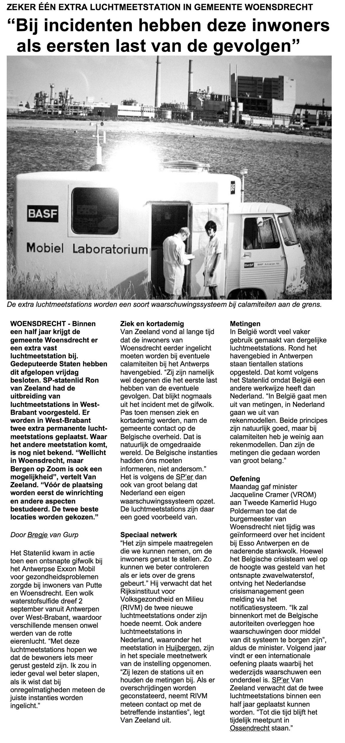 Brabant - luchtkwaliteit - West-brabant - Ron van Zeeland