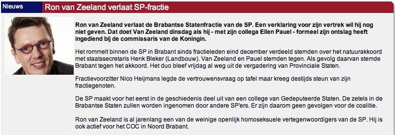 Ellen Pauel - Ron van Zeeland - SP - Brabant - lhbt