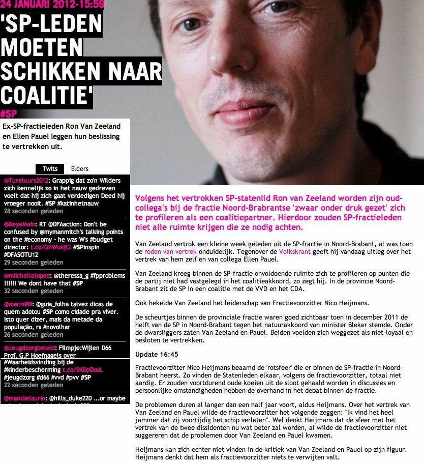 SP - Ellen Pauel - Ron van Zeeland - Brabant