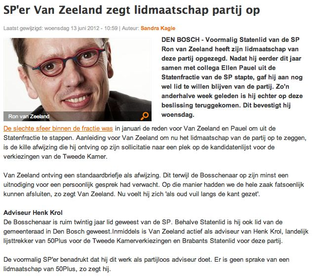 SP - Ron van Zeeland