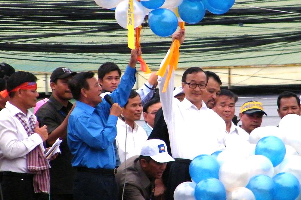 Verkiezingen Cambodja - Sam Rainsy - Kem Sokha