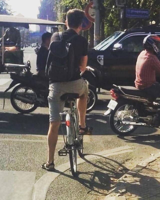 Ron fiets Phnom Penh 2018