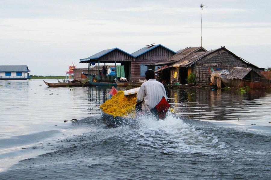 Khmer drijvend dorp