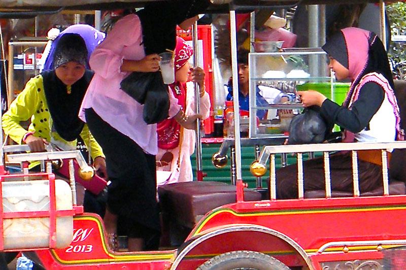 Cambodja - Cham - tuktuk