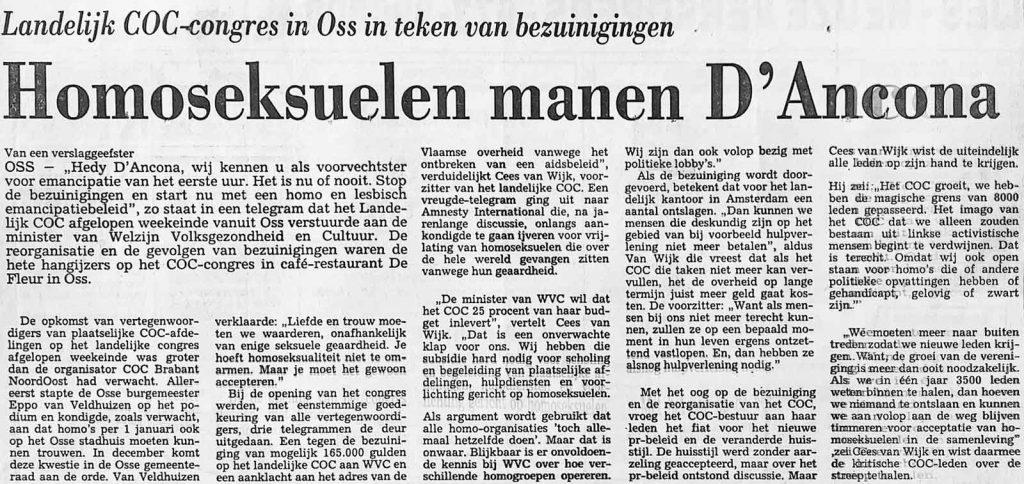 16 november 1991 COC Congres Oss