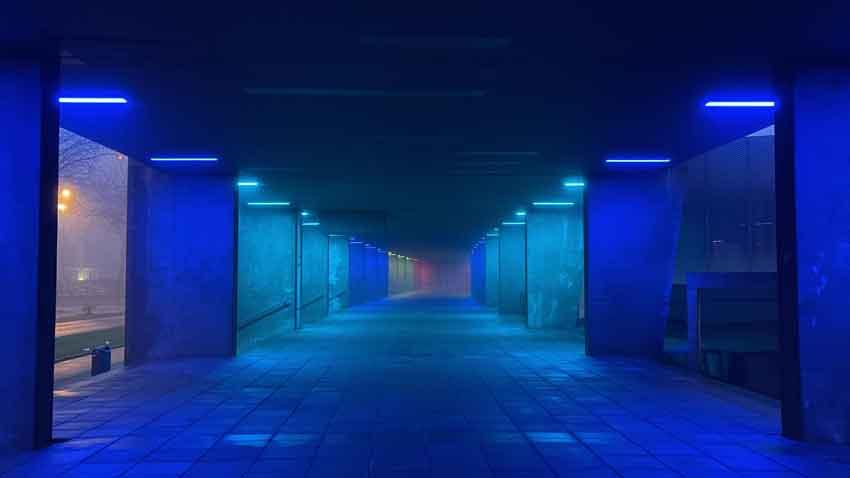 Rotterdam blauw licht